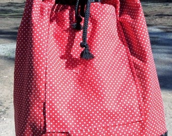 POLKA DOTS and CHECKERS purse