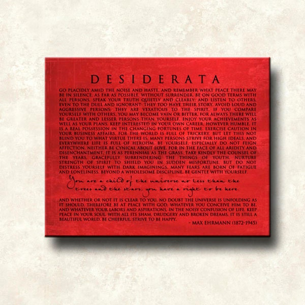 essay about desiderata poem How to reference a poem title in an essay rachel kolar updated june 13, 2017 home » how to cite whether you are writing an essay about a poet or simply quoting a poem or referring to its themes, you may find yourself needing to reference the poem's title however, it can be hard to remember whether the title is italicized, underlined or put.