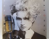 """Madonna Vintage Vinyl Record 1980s Pop Music Dance Romance Sex Love Relationships """"Madonna"""" (her massive selling debut - 1983 Sire Records)"""