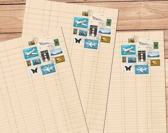 Postage Palooza - A5 Stationery - 12, 24 or 48 sheets