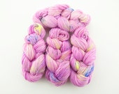 Pollinated Peony - 4 Ply Sock Yarn - pink multicolor speckled yarn - fingering weight superwash wool