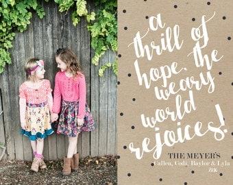 Thrill of Hope - Custom Photo Christmas Card