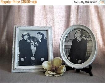 Happy 4th with 40% Off Cottage Chic Frame for Wedding or Home Decor / Instant Ancestors Vintage Framed Wedding Photo / Vintage Wedding Pictu