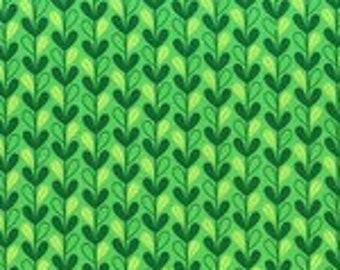 Michael Miller Leafy Vines Green fabric - 1 yard