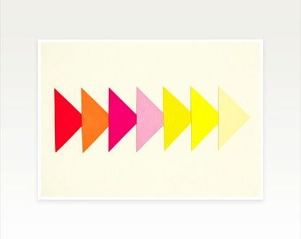 Modern Geometric Art, Minimalist Arrow Print - Arrows II