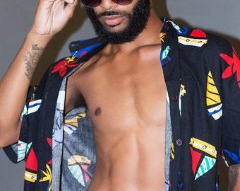 Emmanuel Vaughn's Indestructible - glasses- clubmaster - retro - dope - stylish - fashion sunglasses - black - gold - custom - personalized