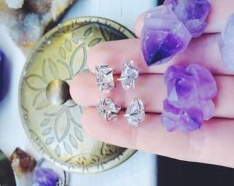 Herkimer Diamond Sterling Silver Studs