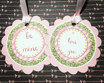Valentines Day Tags, Set of 12