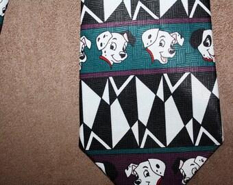 101 Dalmations Necktie Tie Vintage Disney