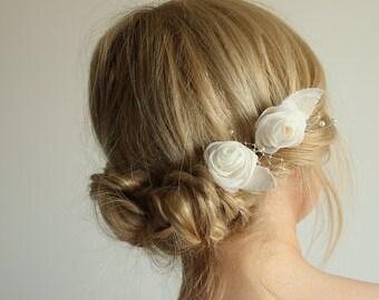 Bridal hair pins, wedding hair pins, bridal wedding accessories, burlap wedding