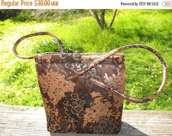 GORGEOUS Hollywood Regency  Brocade Iridescent  Gold Brown And Black Evening Purse By Lennox Bags Circa 1950s