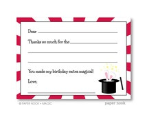 Magic Party PRINTABLE Fill-in-the-Blank Thank You Note