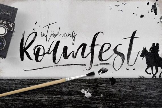 Calligraphy Font, Modern Calligraphy, Digital Fonts, Wedding Font, Invitation Font, Script Font, Digital Download, Roamfest