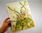 Original Watercolor Fairy Painting - Dont Dring & Fly