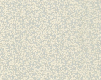 Greyblue and Ivory Petite Retro Floral Cotton Lawn, Woodland Clearing by Liesl Gibson Oliver & S For Robert Kaufman, 1 Yard