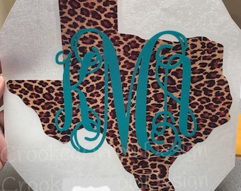 Yeti State Monogram Decals   Cheetah Decals, for any hard surface   Leopard