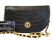 CHANEL Small Oyster Quilted Evening Bag