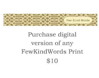 Purchase Digital Version of Any FewKindWords Design - Printable Guestbook Thumbprint Fingerpint