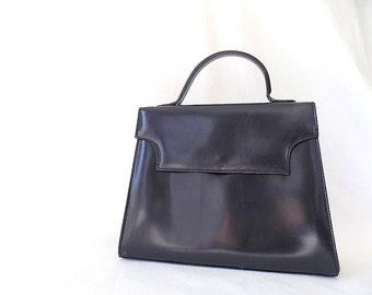 Vintage SAKS Fifth Ave Italian Leather Top Handle Bag