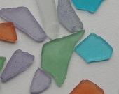 One Bag of Glass Beads - Assorted Colors, Sizes, Types, and Shapes, 10 Ounces, 300 Grams, Hundreds of Pieces, Imitation Sea Glass, Undrilled