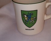 Maguire family coat of arms mug made in Ireland