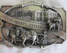 1985 Jewell County Threshing Bee Belt Buckle