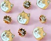 doge pin set - so wow - meme enamel lapel pin