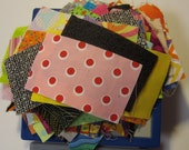 2.5 ozs of Fun and Bright Fabric Scraps of Calicos and Cottons for Quilting and Sewing Set 2