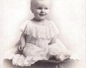 Girl in Lace - Vintage Photograph, Ephemera, Paper Ephemera, Vernacular, Found Photo (A)