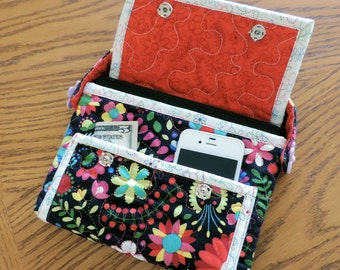 Quilted Multi-Pocket Tablet Tote - #530