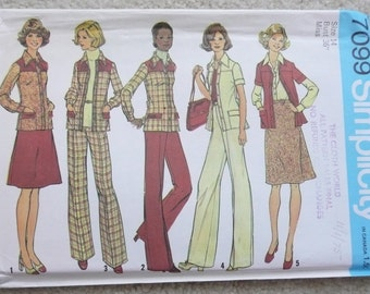 Misses Separates Pattern, Size 14, Simplicity 7099, Uncut and Factory Folded