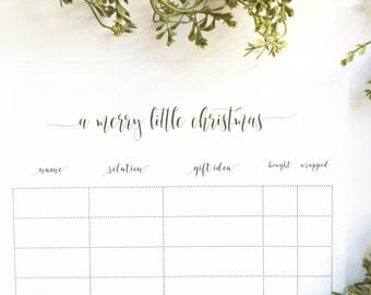 Christmas Organizer | Notepad | Planner | Christmas Checklist | Gift Checklist | Christmas Shopping List