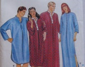Men's or Women's Loose Fitting Nightshirt - Butterick 4138 - Size Small, Bust 34 - 36, Uncut
