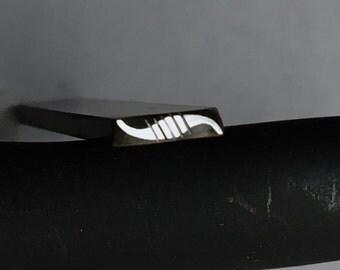 S Curve Border Shape and Texture Handmade Designer Metal Stamp