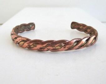 SERGIO LUB California Cuff Bracelet - Vintage, Copper & Brass - Worn
