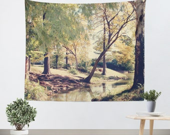 Park Tapestry - Tree Tapestry - Forest Wall Hanging - Nature Wall Tapestry - Green and Brown - Nature Wall Art - Tapestry - Dorm Tapestry
