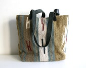 SALE Wool Southwest Textile Tote