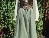 Renaissance Dress With Separate Corset, size Medium