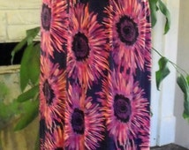 Maxi Sundress/ Jersey Sundress/ Rayon-Spandex Sundress/ Tropical Print Sundress/ Shabbyfab Funwear