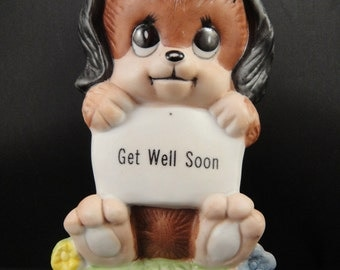 Get Well Soon Puppy Holding Sign Russ Berries 808 1979