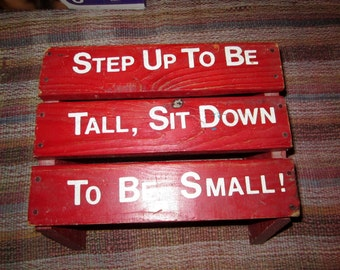 Vintage Childs Stepping Stool/ SALE /Red handmade Vintage Stepping tool from 1950's Childs Stepping Stool