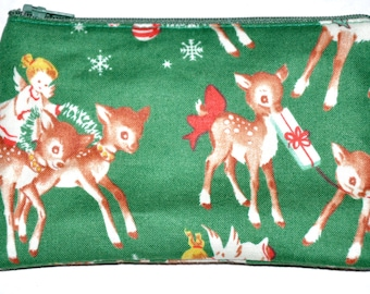 Christmas Deer Coin Purse