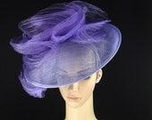 Lavender Purple Fascinator Hat