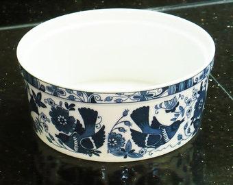 Asian Ceramic, Porcelain Bowl, Blue White, Birds, Flowers, Made in Japan,Bowls,