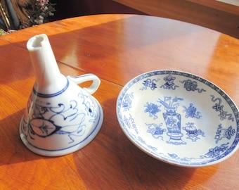 Holland Bowl. Meissen Funnel. Societe Ceramique. Maestricht. Delft Kitchen. Dinnerware. Potiche. Meissen. Blue / White. Kitchen. Porcelain.