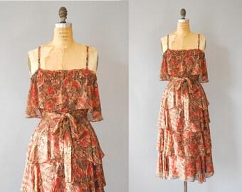 1970s Dress / A Light Breeze Dress / 70s Dress