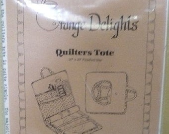 Save 10 % - Quilter's Tote - Orange Delights - No. 009
