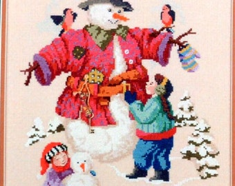 """Dressed For Winter - Studio """"B"""" Cross Stitch Chart  # 6104 - Includes 2 charms"""