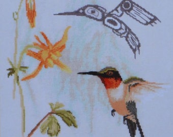 Hummingbird - Original Artwork by Sue Coleman - The Stitching Studio - Cross Stitch Chart