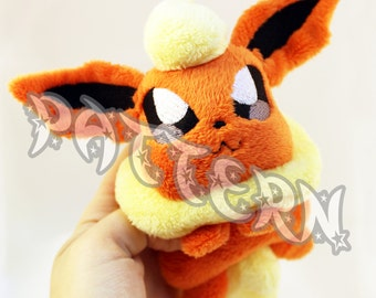 ITH PATTERN ~ In The Hoop Pattern for Flareon Beanie Pokemon Plush - Embroidery File Project